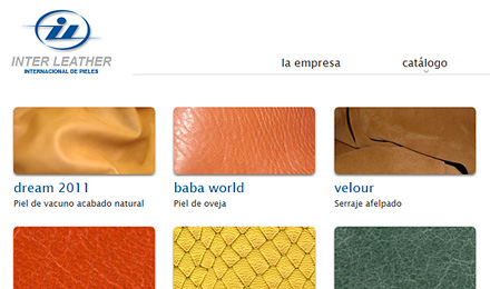 diseño web de InterLeather