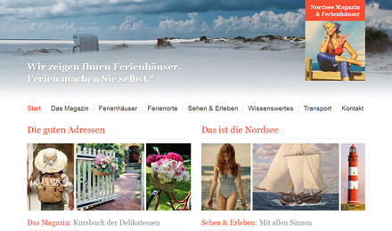 website Nordsee Magazin