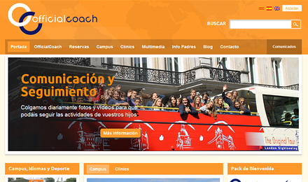 diseño web de OfficialCoach
